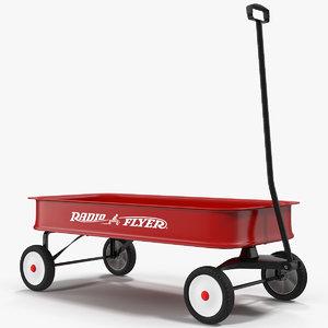 3d childs wagon 2 modeled model