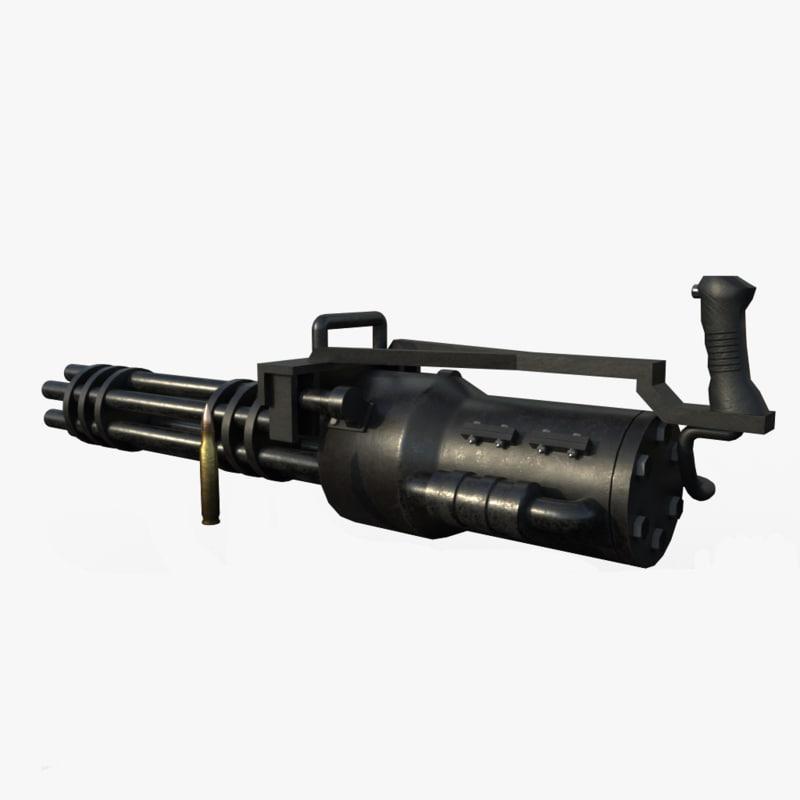 gun m machine 3d obj