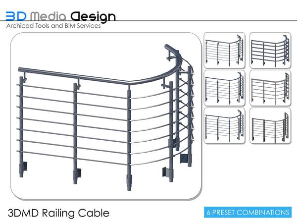 3d model 3dmd railing cable