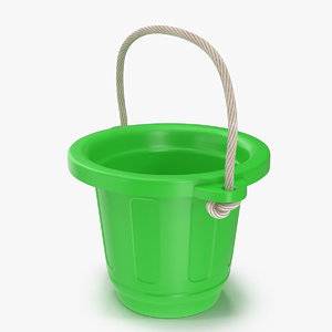 3d model toy bucket modeled