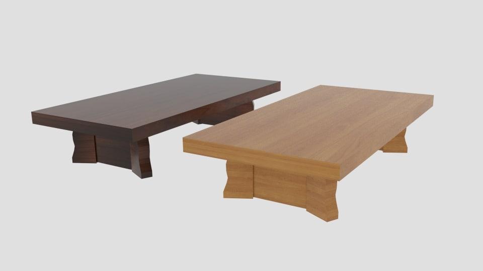 3D model japanese table centre curve