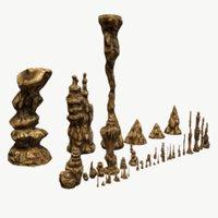 Stalagmites Set (Textured)