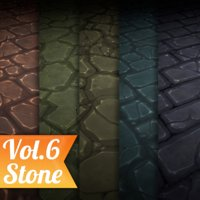 Texture Set Vol.06 Hand Painted Stone