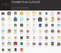 Chairs plan cutouts  PNG