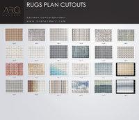 Rugs plan cutouts PNG