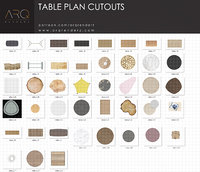 Tables plan cutouts PNG