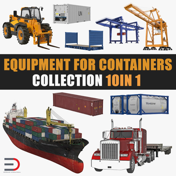 equipment containers 3D model