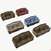 3d model sofa old