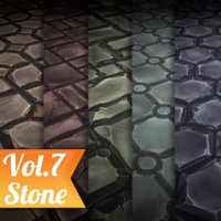 Texture Set Vol.07 Hand Painted Stone Tiles