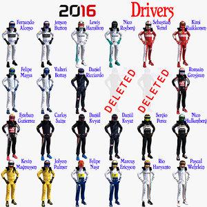 3ds drivers formula 1 2016