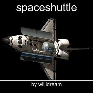 space shuttle c4d