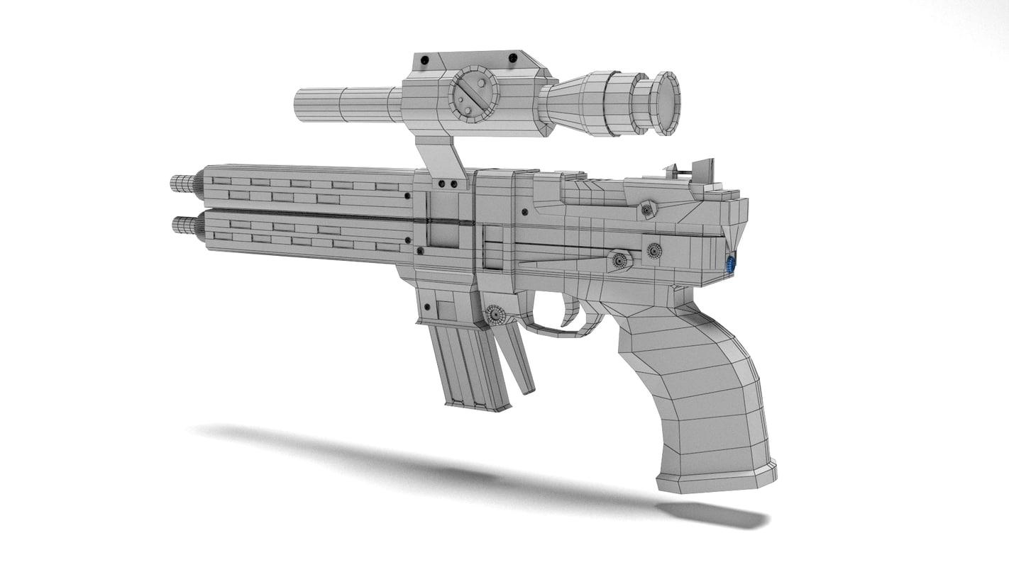 3d model borderlands 2 gun