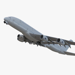 airbus a380-1000 generic rigged 3D model