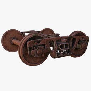 rust wheel 3d model