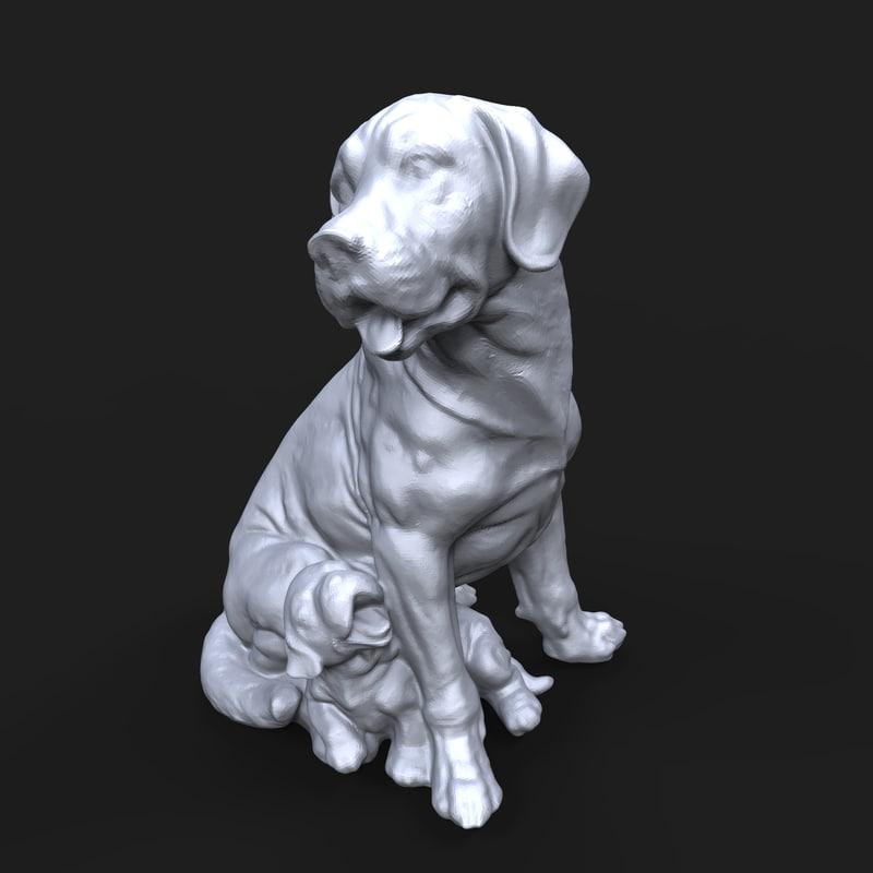 3D model broholmer dog puppy