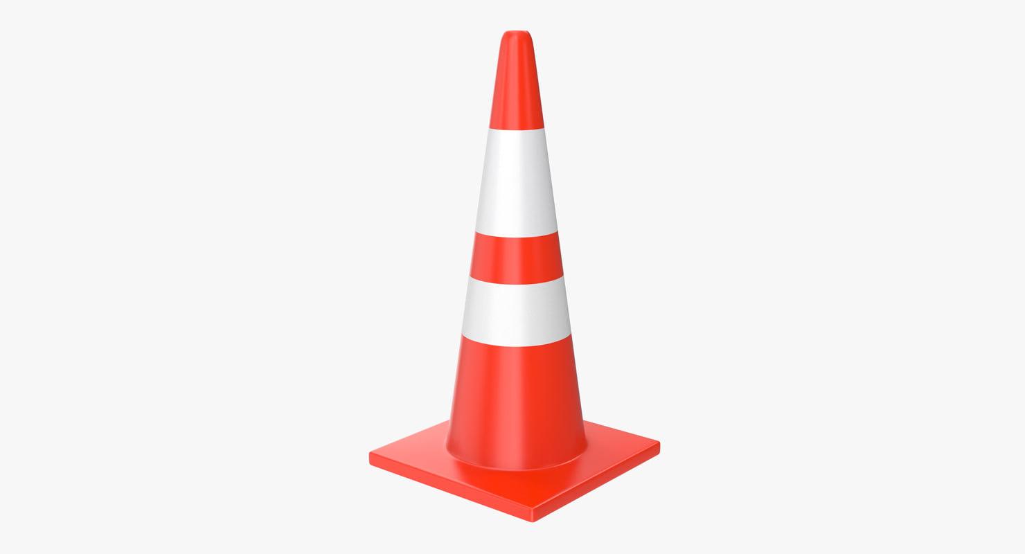 3d model of road cone