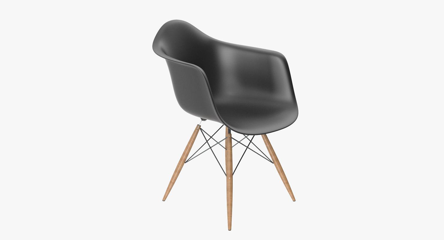 3d model pascal plastic chair