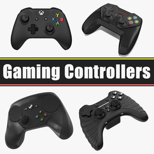 gaming controllers 3D