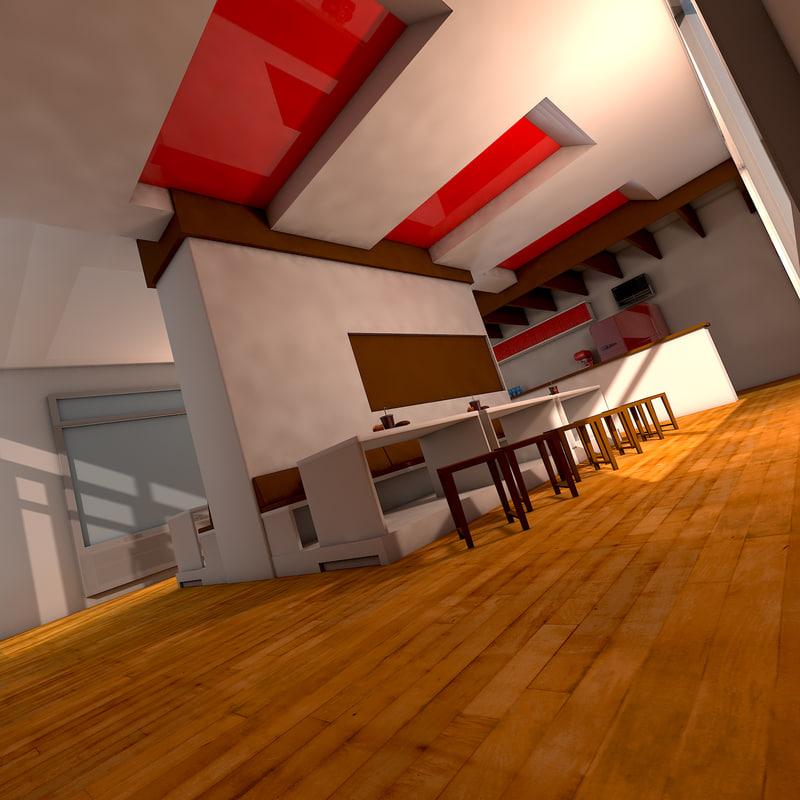 3d model fast food restaurant interior
