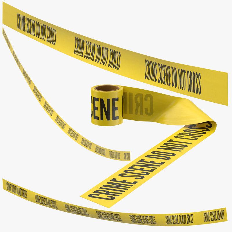 3D crime scene tapes