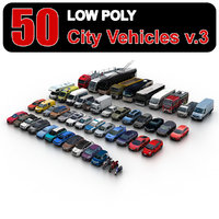 Low Poly City Vehicles vol.3