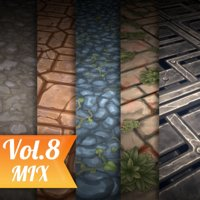 Texture Set Vol.08 Hand Painted Ground (Stylized Texture Ground)