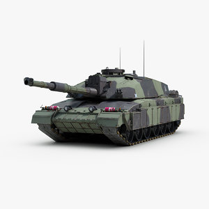 3d british challenger 2 mbt model
