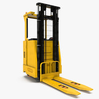 rider stacker yellow modeled 3d 3ds