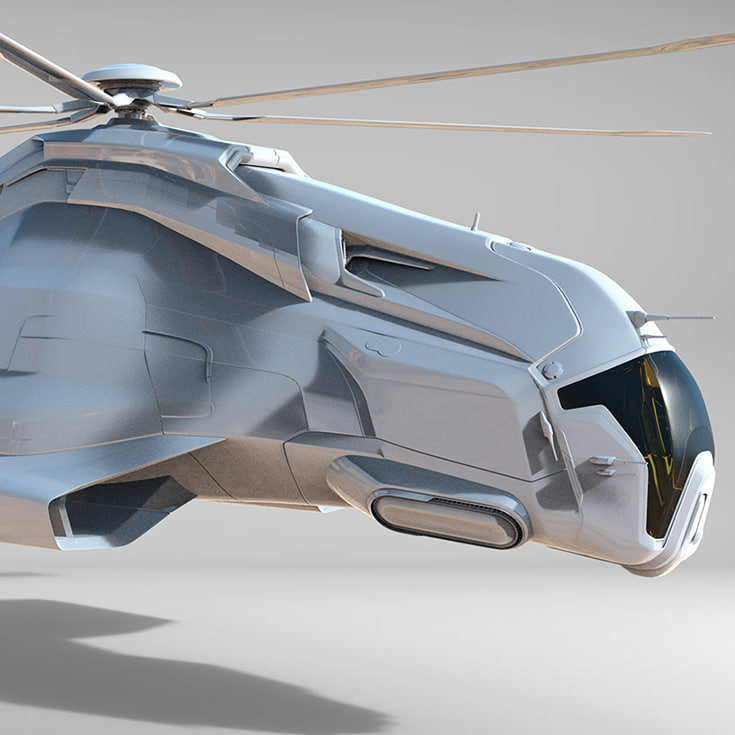 3d helicopter fighter model