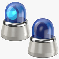 blue car lights 3D
