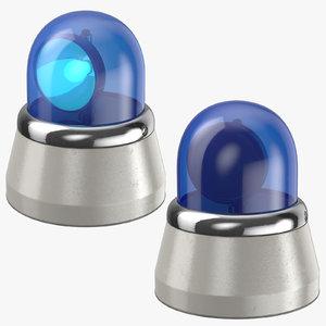 blue car lights 3D