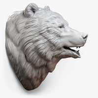bear head sculpture animal 3d max