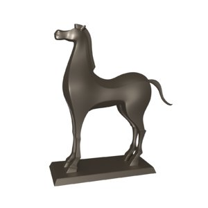 3d cartoon horse model