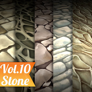 Texture Set Vol.10 Hand Painted Ground (Stylized Texture Floor)
