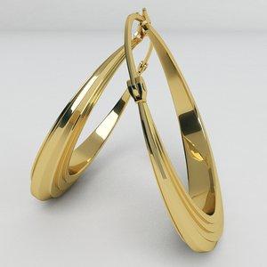 3ds creole earrings