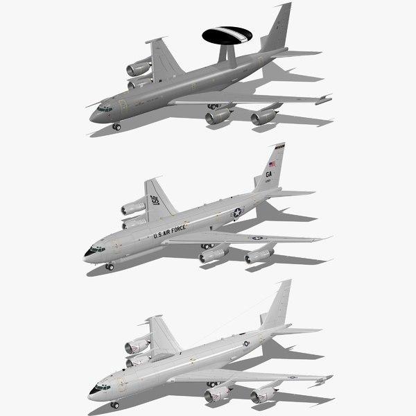 3d model e-3d air force e-6b