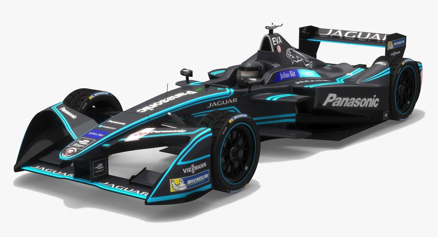 panasonic racing formula e 3D model
