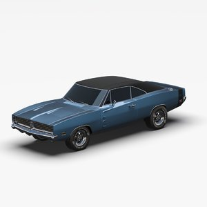 muscle car american 3D model