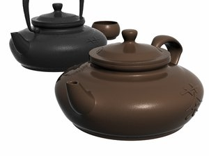chinese teapot 3d 3ds
