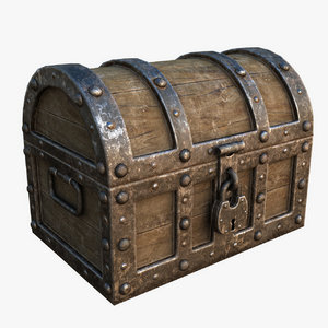 ready treasure chest 3d model