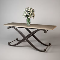 andrew martin elizabeth console table 3d 3ds