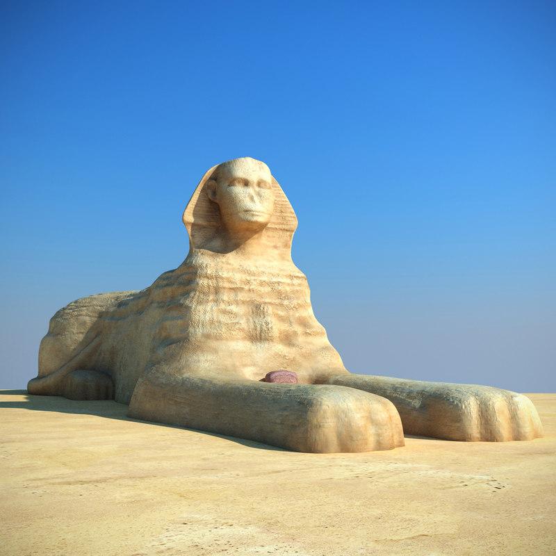 3d great sphinx model
