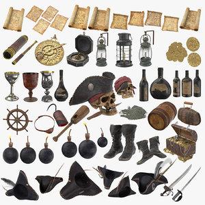 3D 57 pirate - model