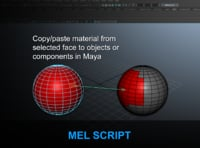 Copy-paste material from selected face to objects or components