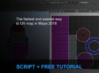 Script + tutorial fastest and easiest way to UV map in Maya 2018