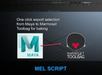 One click export selection from Maya to Marmoset Toolbag