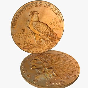 indian head gold obj