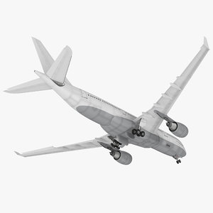 jet airliner airbus a330-200 3D model