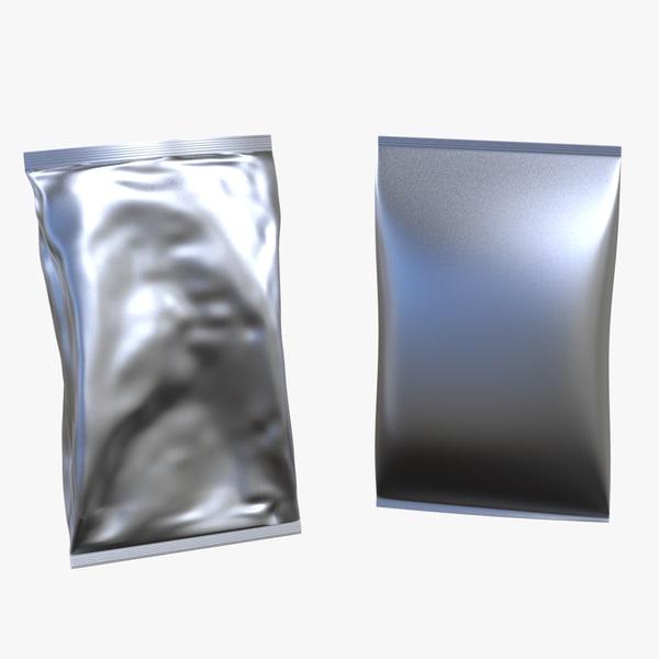 2 bags packaging 3d max