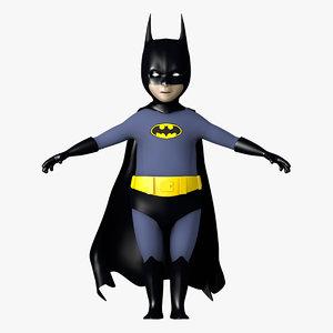 3d model kid batman character